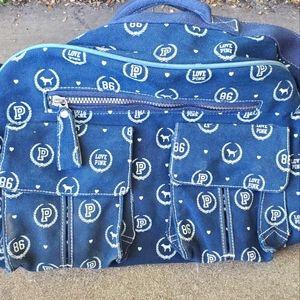 [VS PINK] Navy Rolling Duffle Bag